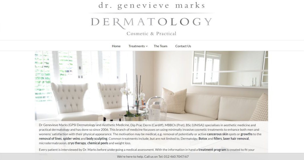 Dr G Marks website by BYoung Design
