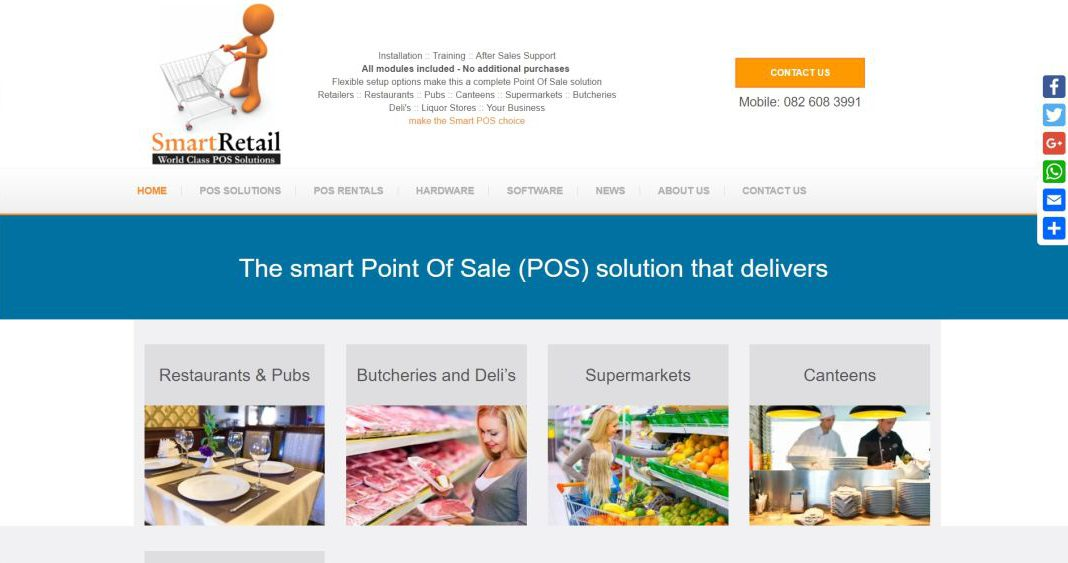 Smart Retail website by BYoung Design
