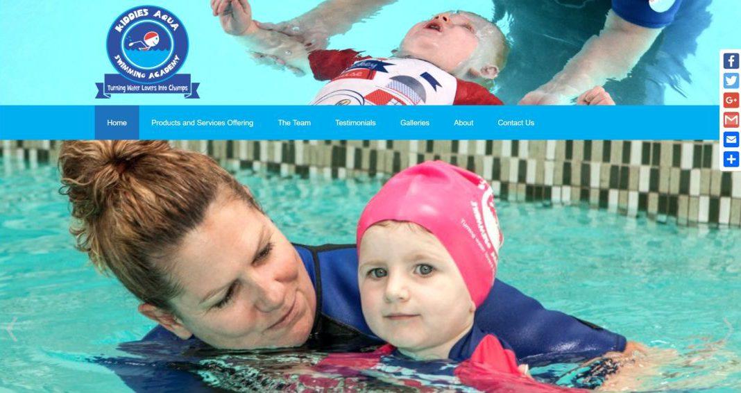 Kiddies Aqua website by BYoung Design